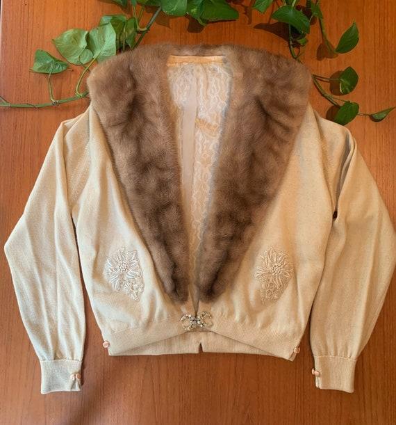 Ballantyne Fur Cardigan   Cashmere Sweater   Fur C
