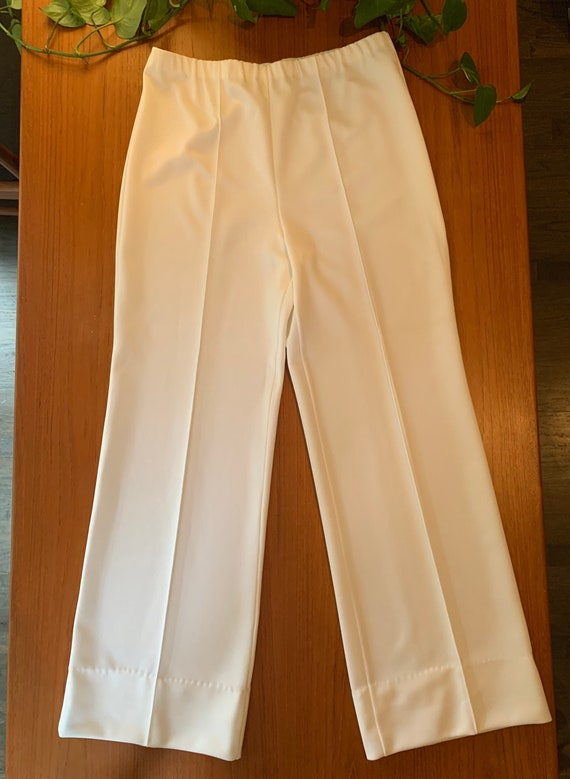 70s Polyester Pants | Bell Bottoms | Vintage Cloth