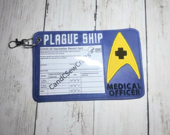 Vaccination card holder, Star Trek vaccination cardholder, vaccine cardholder, vaccinated, vaccine card holder