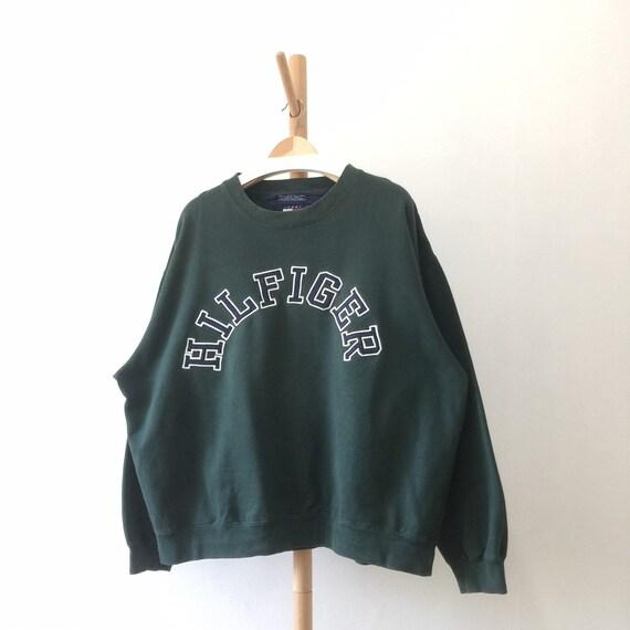 Vintage 90s Tommy Hilfiger Embroidered Crewneck Sw