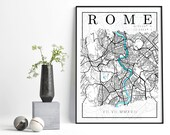Memory Map, Wall Print, Personalised, Home Decor, Travel Inspired, A4 Print, Poster