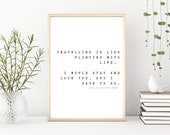 Travel Quote, Wall Print, Home Decor, Quote Print, A4 Print, Poster