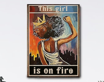 Alicia Keys Girl On Fire Retro Music Poster Framed Music Print Vintage Style Music Decor