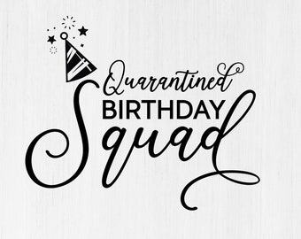 Birthday Squad Svg Etsy