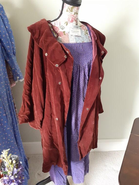 Vintage Velvet Opera Coat