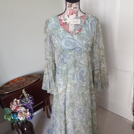 1970's Dress with Angel Sleeves