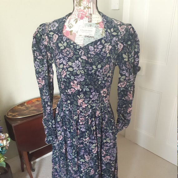 Laura Ashley Courderoy Prairie Dress with leg-of-m