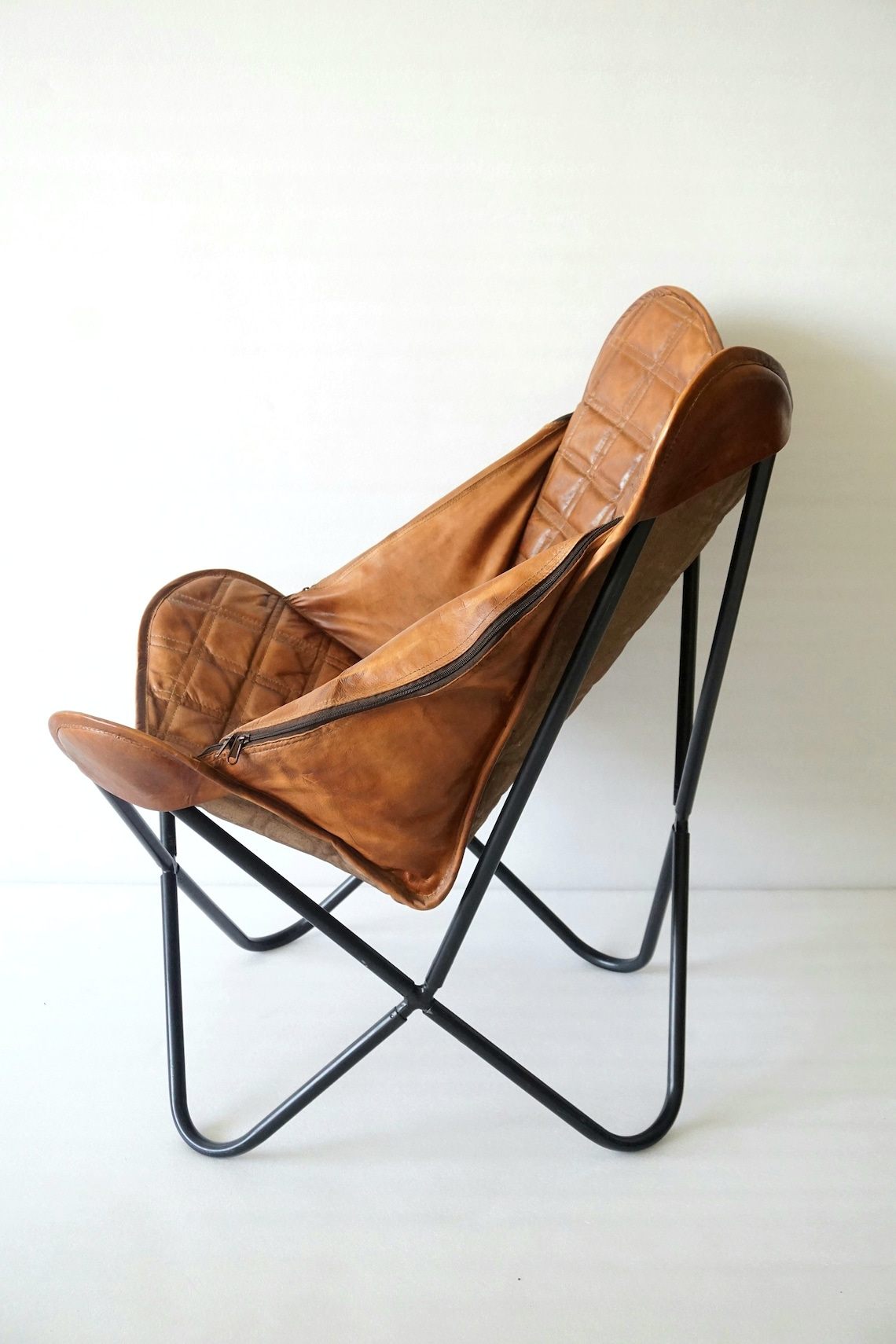 Replacement Cover for Butterfly Chair, Handmade Leather Cover, High Quality