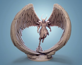 Celestial Paladin 3d printed Miniature for Tabletop RPGs Dungeons and Dragons DnD D&D Pathfinder