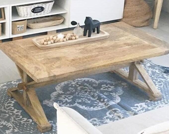 Solid Mango Wood Coffee Table Rustic Side End Tea Cocktail Vintage Furniture Handmade