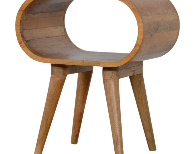 Scandinavian Style Bedside Table Nordic Nightstand Small Cabinet Side Table Handmade Solid Mango Wood Plant Stand