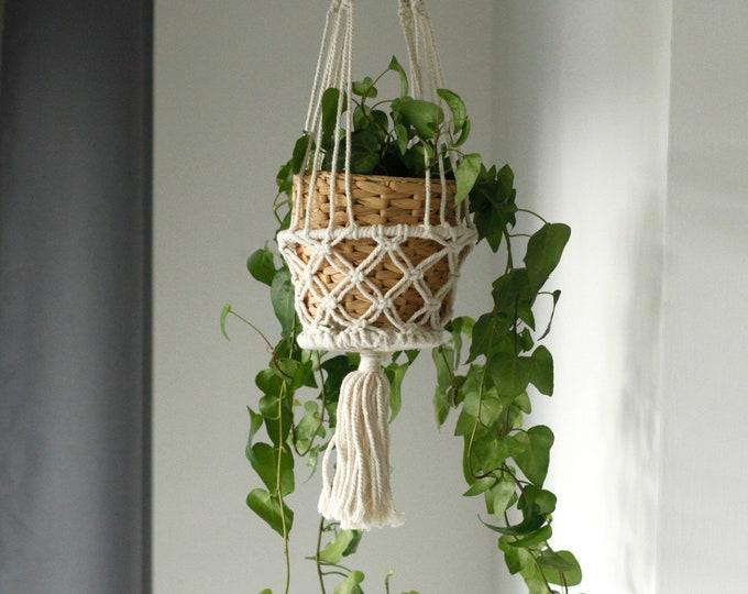 Macrame Hanging Pot Holder Boho Bohemian Plant Hanger Handmade Home Decoration