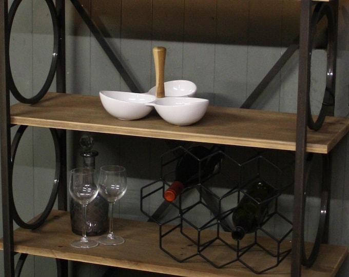 Industrial Tall Shelving Unit Bookcase Slim Bookshelf Shelf Rack Free Standing