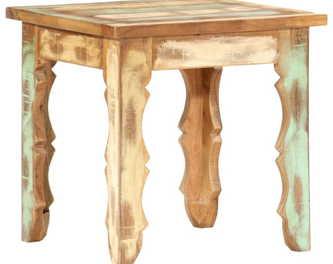 Small Solid Wood Reclaimed Side Table Coffee Table Rustic Vintage Style Plant Stand Bedside Handmade