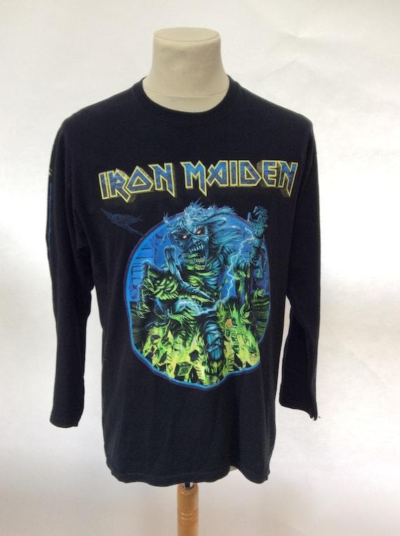 Vintage Iron Maiden World Tour Long Sleeve T Shirt