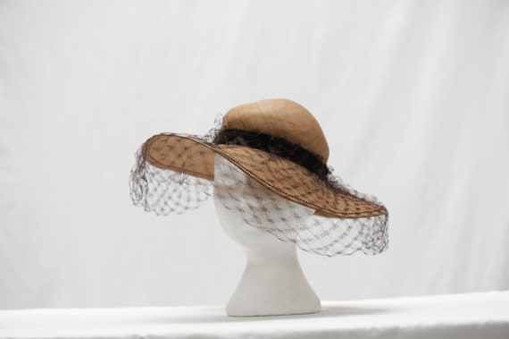 Vintage 1960s Diorling by Christian Dior straw hat