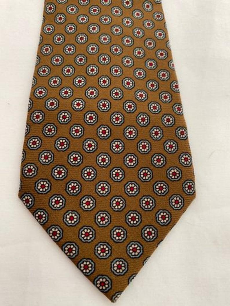 Vintage 1960s Harrods  geometric floral retro tie