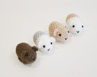 Pudding & Cake, crochet guinea pig patterns | Son's Popkes | 270x340