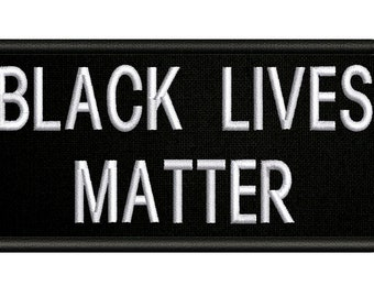 Black Lives Matter Banner Embroidered Sew//Iron-On Patch BLM Protest No Justice