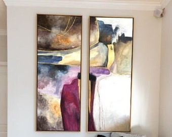 Large Abstract Wall Art Gold Original Abstract Painting Acrylic on Canvas Art Canvas Home Decor Abstract Wall Art gift for bedroom l