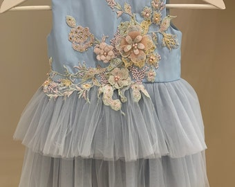Kleinkinder Baby Mädchen Kleid Geburtstag Partykleid Spitze Festkleid Taufkleid