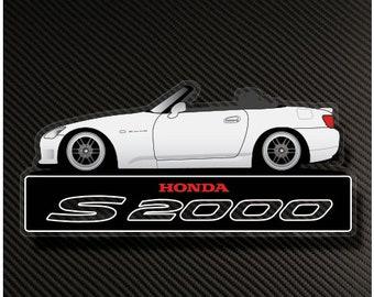 2 pcs 2 FREE decals S2000 Handle Door Decal Sticker Emblem for HONDA S 2000