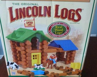 Lincoln Logs Wood Building Logs Building Set