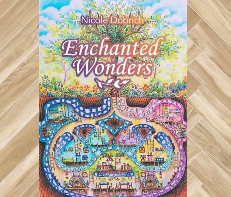 Enchanted Wonders Adult Coloring Book With 40 Coloring Pages Etsy