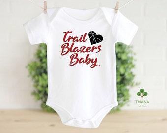 Personalized Portland Trail Blazers Baby Bodysuit