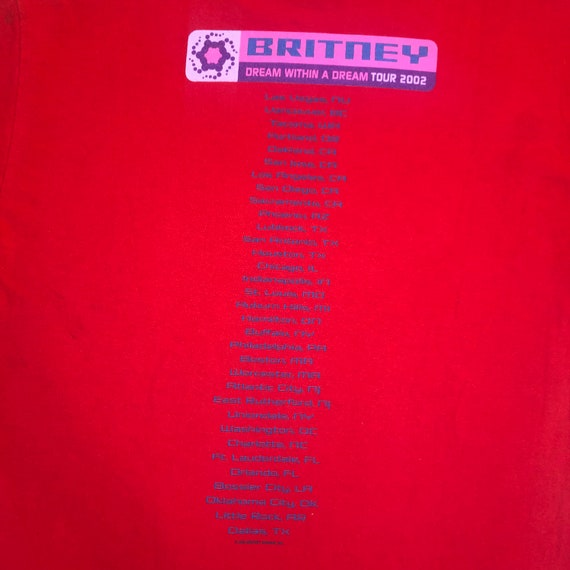 2002 Britney Spears Dream Within a Dream Tour Tee - image 6