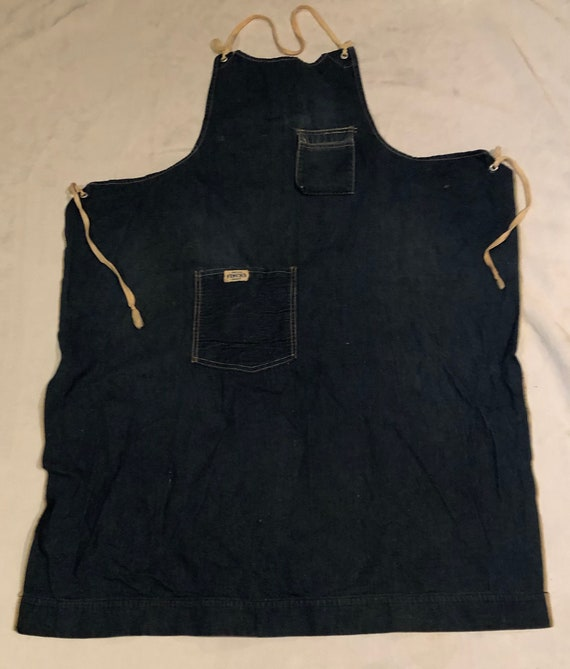 Finck's Denim Work Apron Vintage 50's Workwear Det