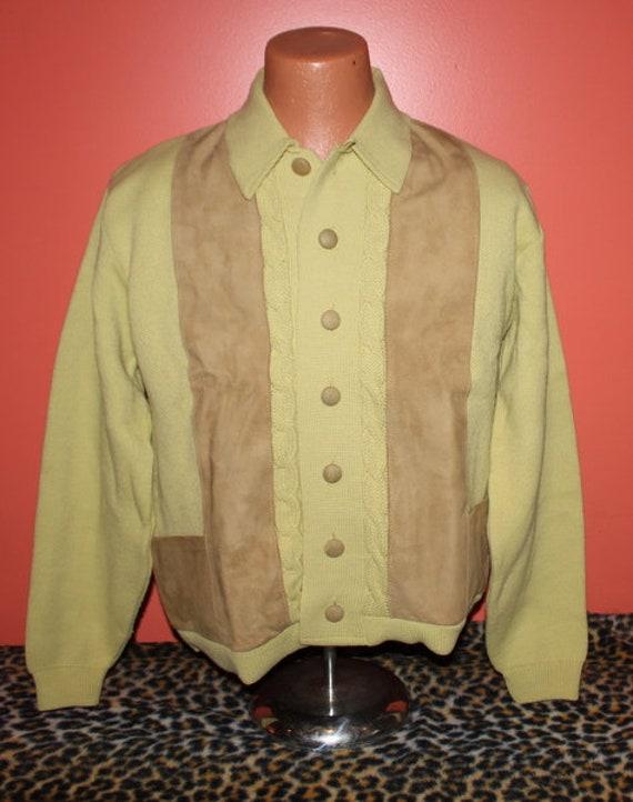 Deadstock Vintage Le Chevron Orlon Suede Leather G