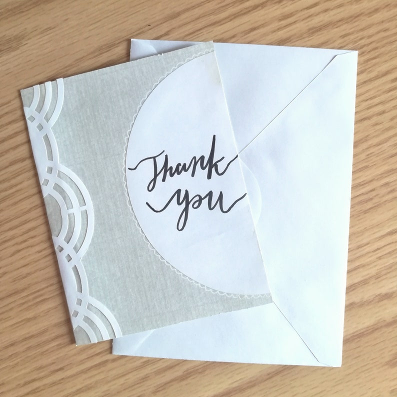 professional thank you card for interviews for  etsy