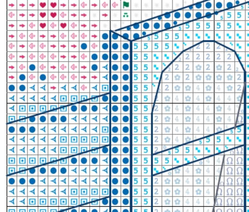 Cross Stitch Mediterranean View Pattern PDF Chart Download