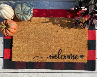 Outdoor Welcome Mat Etsy