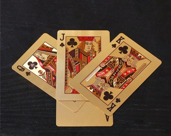Cool Playing Cards, Poker Cards, Metallic Gold Cards