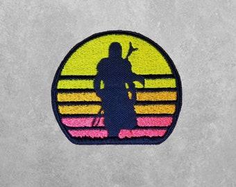 sunset badass stride Mandalorian inspired patch