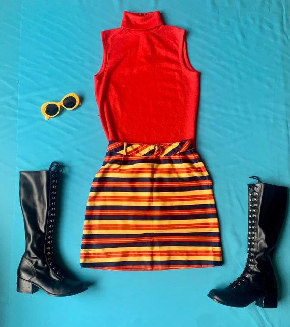 Vintage 60s Mod Set skirt + turtleneck top