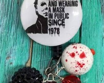 Michael Myers Halloween badge reel
