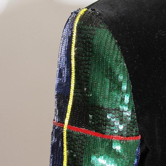 Escada Velvet & Sequin Jacket Circa 1990's - image 3