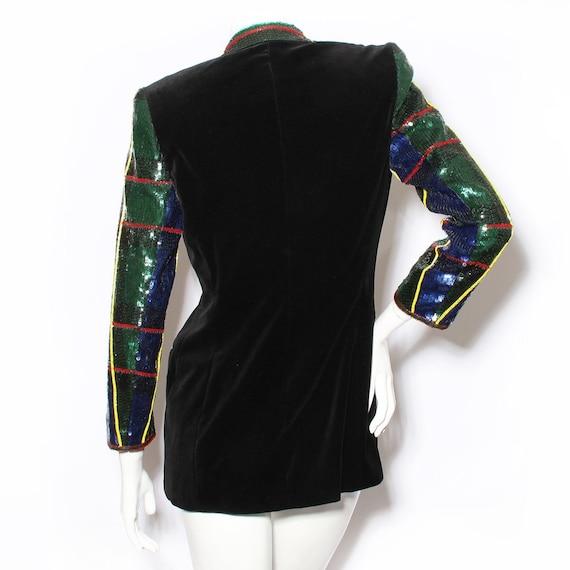 Escada Velvet & Sequin Jacket Circa 1990's - image 2