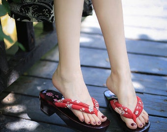 Handmade  Man Clogs Chinese style Cos Japanese men/'s Japanese slippers Geta Two-tooth clogs high-heeled flip-flops Chinese platform slippers
