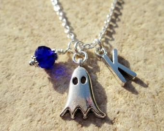 Handmade Halloween Necklace Ghosts and Ghouls Boo Necklace Ghost Fashion Ghost Necklace Ghoul Fashion Ghoul Gang Ghost Halloween Decor