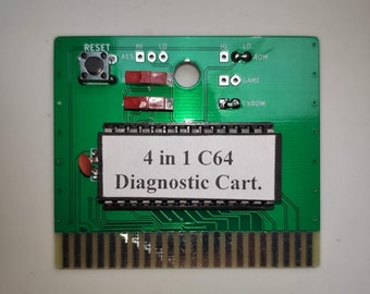 4 in 1 Diagnostic Cartridge for Commodore 64 / C64