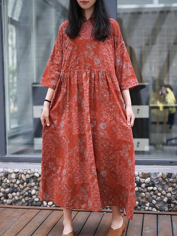 plus size dress Prom dress Women half sleeve dress women/'s dresses Cotton dress