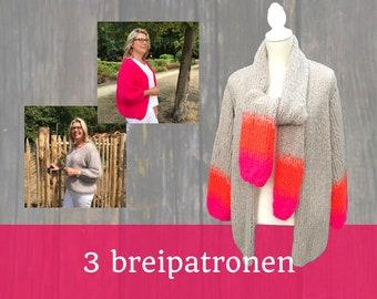 3 BREIPATRONEN De Gezusters Bernadette I vest l cardigan I oversized