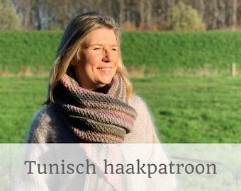 HAAKPATROON 'Morning Glory' Tunisch gehaakte stola l sjaal l wrap
