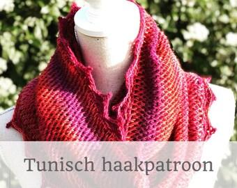 HAAKPATROON Tunisch gehaakte loopsjaal l sjaal l wrap