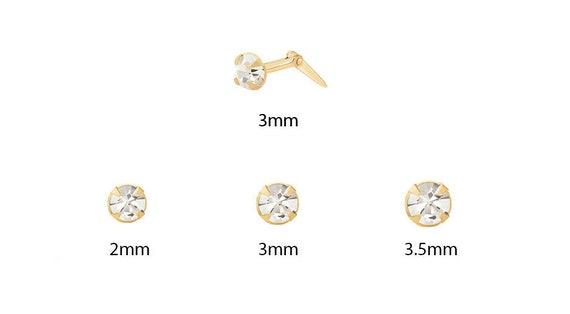 9ct Yellow Gold Tanzanite Crystal Andralok Nose Stud