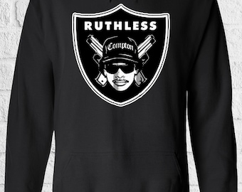 Eazy E Compton Raiders Mens Hoodie NWA Oakland Ruthless Records Straight Outta